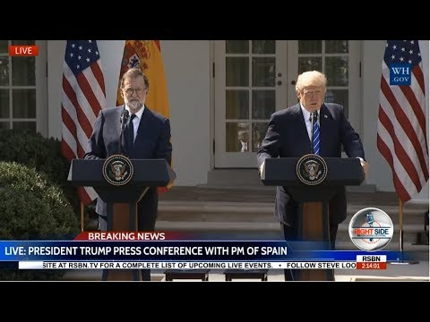 President Donald Trump Holds PRESS CONFERENCE/ NFL Kneeling with PM of Spain 9/26/17