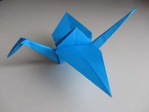 Origami crane youtube for How to fold a crane step by step