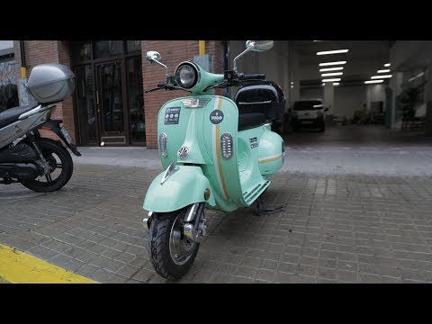 Barcelona's electric scooter rideshare, Yugo.