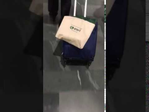 Toting Esri bag at AAG conference