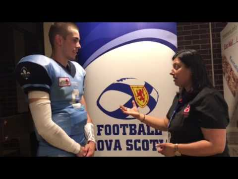 Postgame Interview with Quebec QB Lukas Boulanger