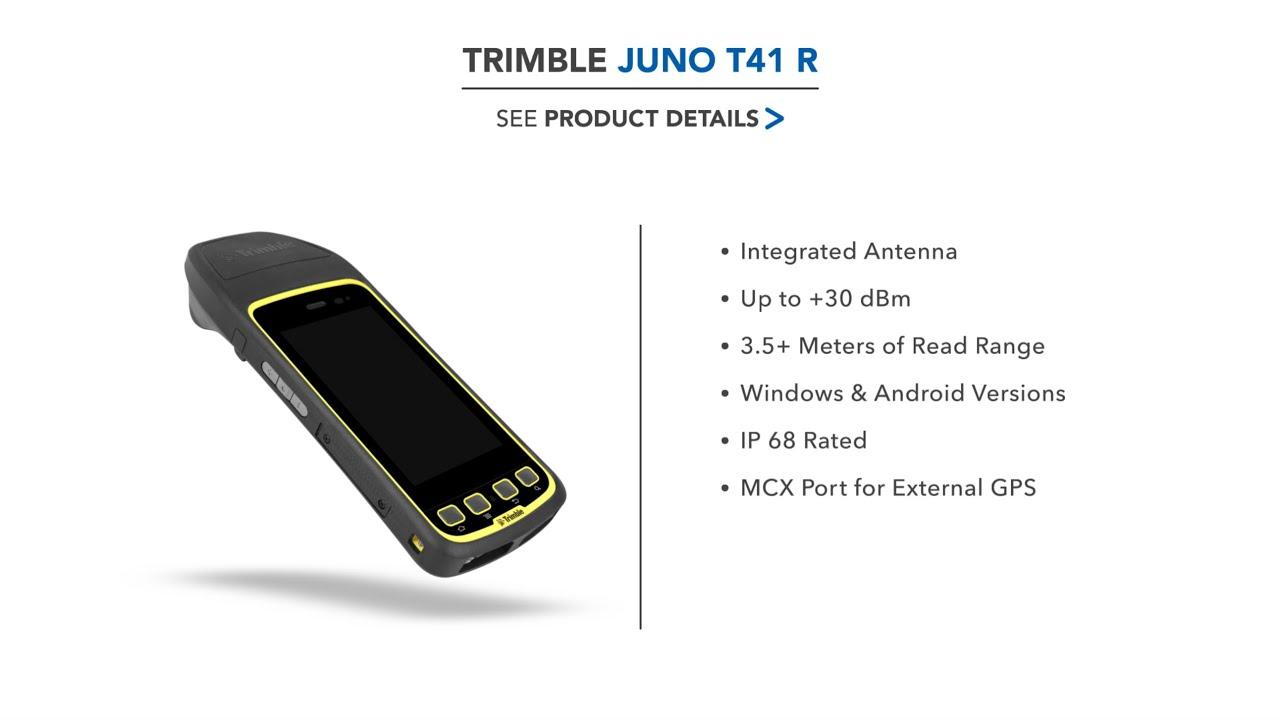 Trimble Juno T41 Rugged RFID Reader (Android 4 1, UHF, Bluetooth, Wi-Fi,  GPS, Camera)