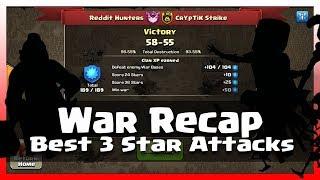 War Recap | Reddit Hunters VS Cryptic Strike | 11v11 | 10v10 | 9v9