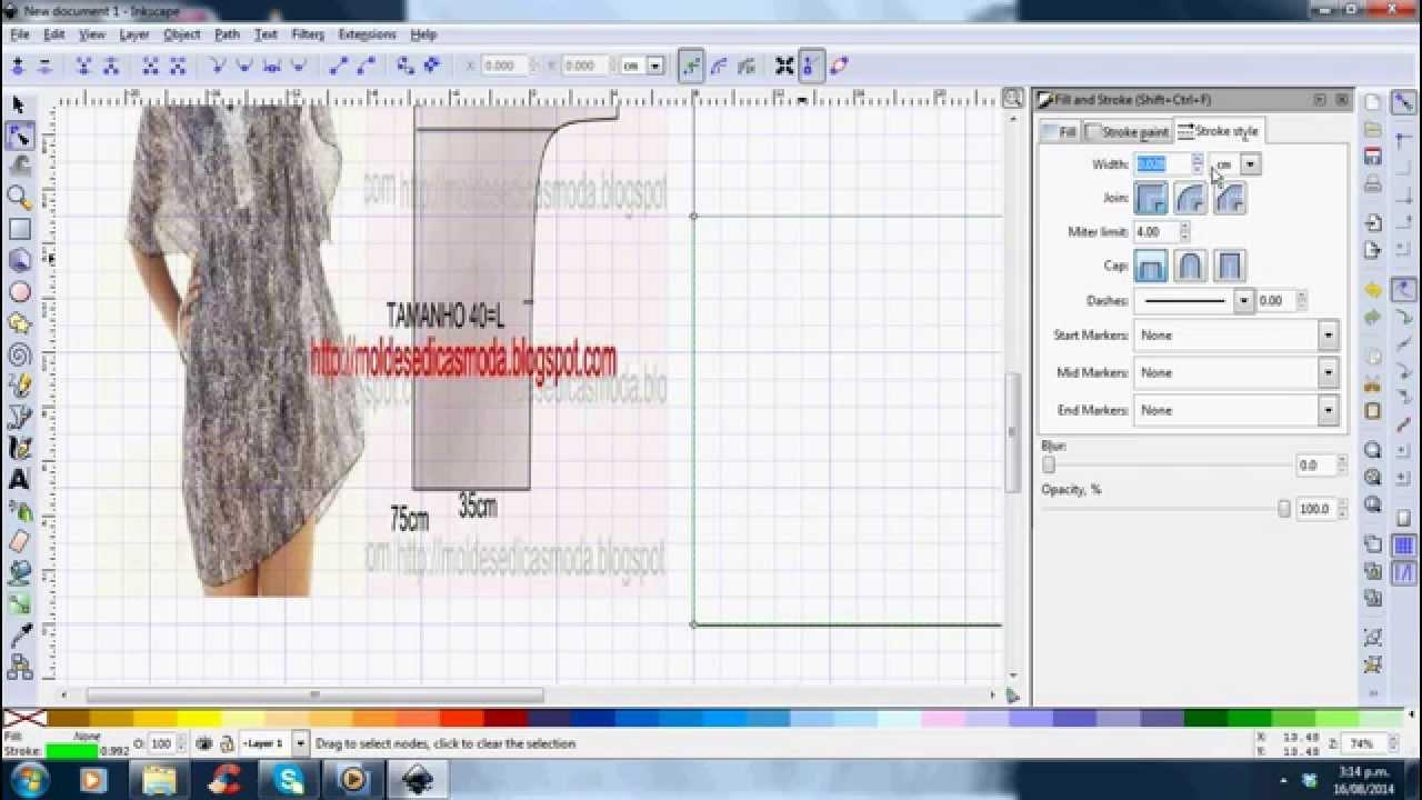Drawing Fatimas pattern in inkscape part 1 - YouTube