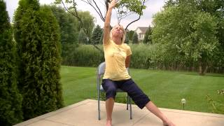 Warrior poses chair yoga
