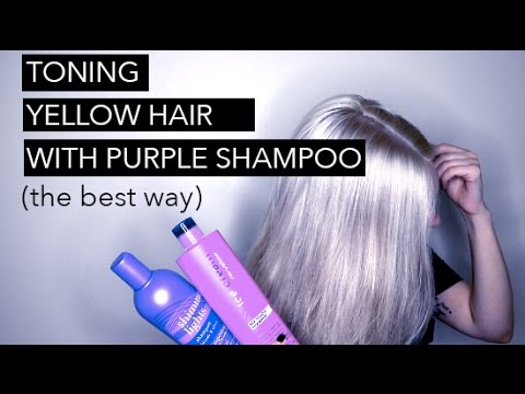 how to tone hair with purple shampoo youtube