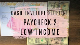 CASH ENVELOPE STUFFING | OCTOBER PAYCHECK #2 | DAVE RAMSEY INSPIRED BUDGETING | LOW INCOME