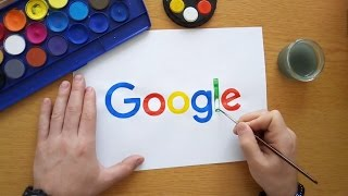 How to draw the Google logo (Drawing famous logos)