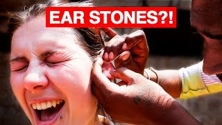 Indian Ear Cleaning | STONES?!