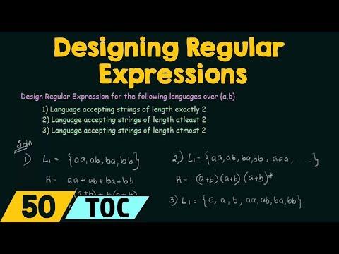 Designing Regular Expressions