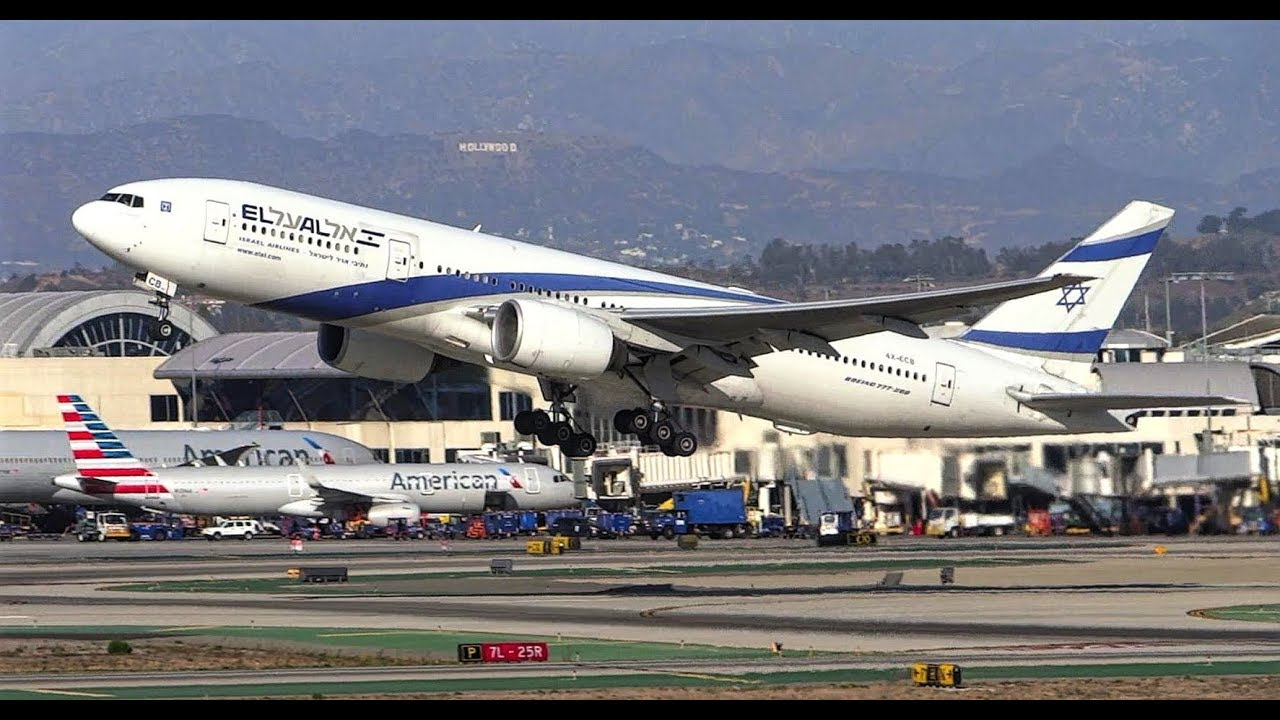 El Al Israel Airlines Boeing ER Takeoff LAX YouTube - Flights to israel from lax