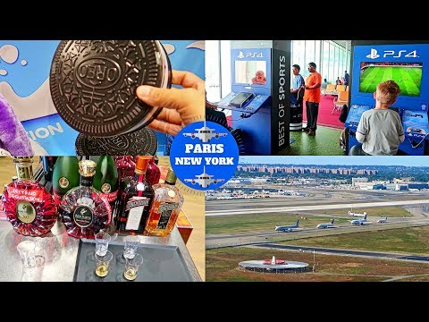 PARIS ✈ NEW YORK & the Coolest Airport Ever! GOT FREE CHOCOLATES & FREE ALCOHOL