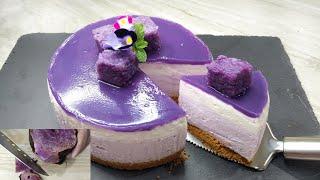 No Bake Ube Cheesecake