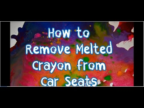 how to remove melted crayon stains from car seats youtube. Black Bedroom Furniture Sets. Home Design Ideas