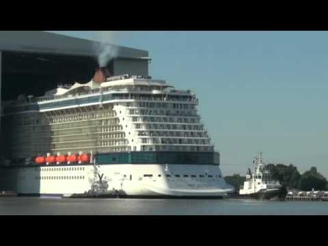 Celebrity Edge Float Out - YouTube