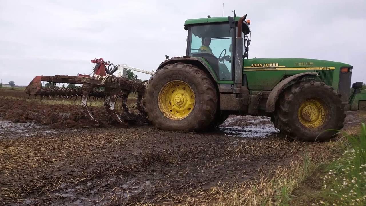 Subsoiling John Deere 8410 310cv Youtube