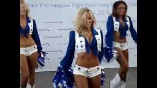 Dallas Cowboys Cheerleaders at Hong Kong International Airport