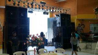 Probando equipo sonido fiesta latina