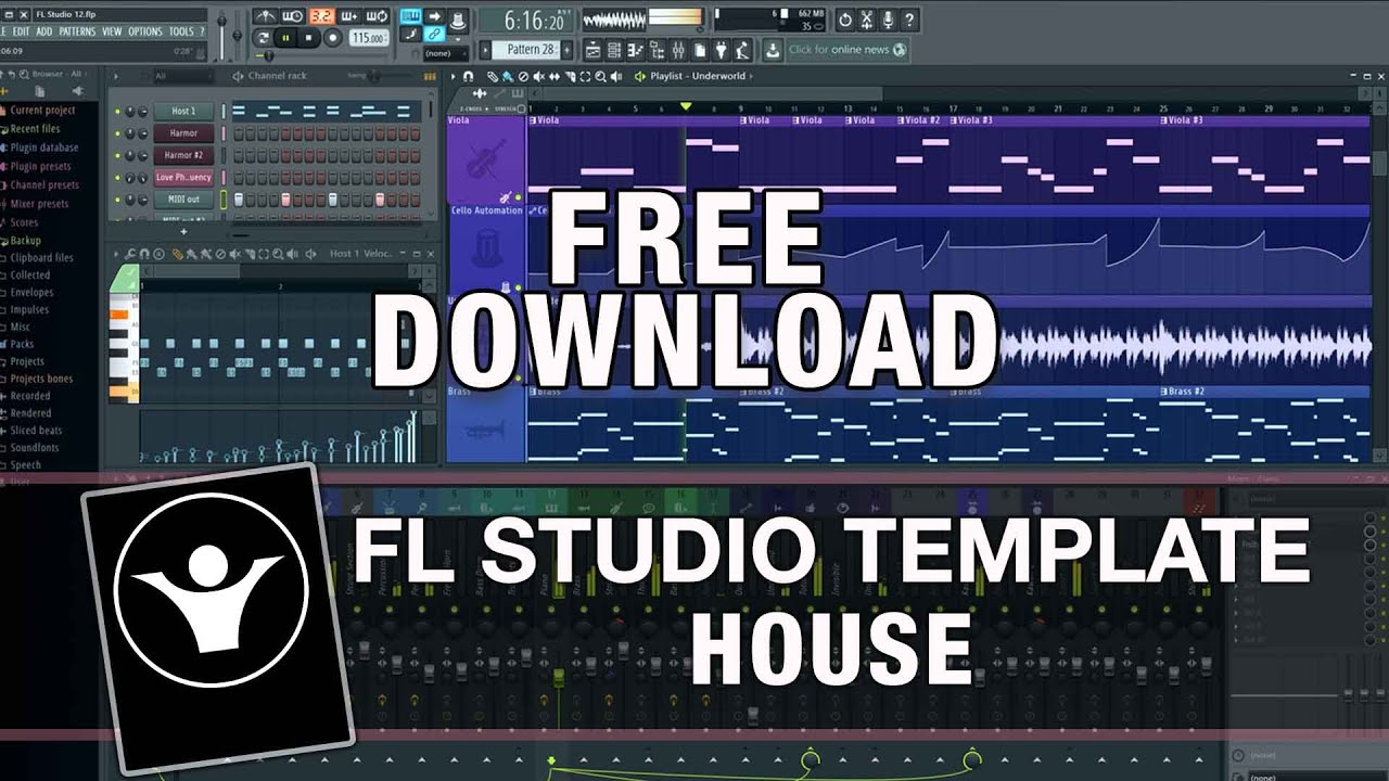 FREE FL Studio Template - House - Illusions