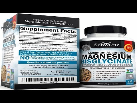Magnesium Bisglycinate 100 Chelate No-Laxative Effect. Maximum Absorption & Bioavailability Fully