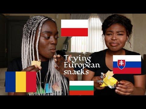 TRYING EUROPEAN SNACKS| ROMANIA, BULGARIA,SLOVAKIA, POLAND