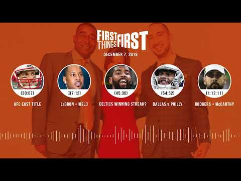 First Things First audio podcast(12.7.18) Cris Carter, Nick Wright, Jenna Wolfe | FIRST THINGS FIRST