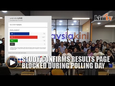 Study confirms Malaysiakini's GE14 results page blocked