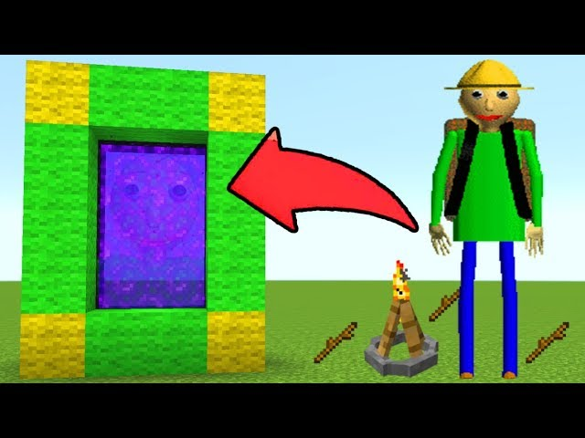 How To Make A Portal To The Baldis Basics Field Trip Dimension In Mcpe Minecraft Pe