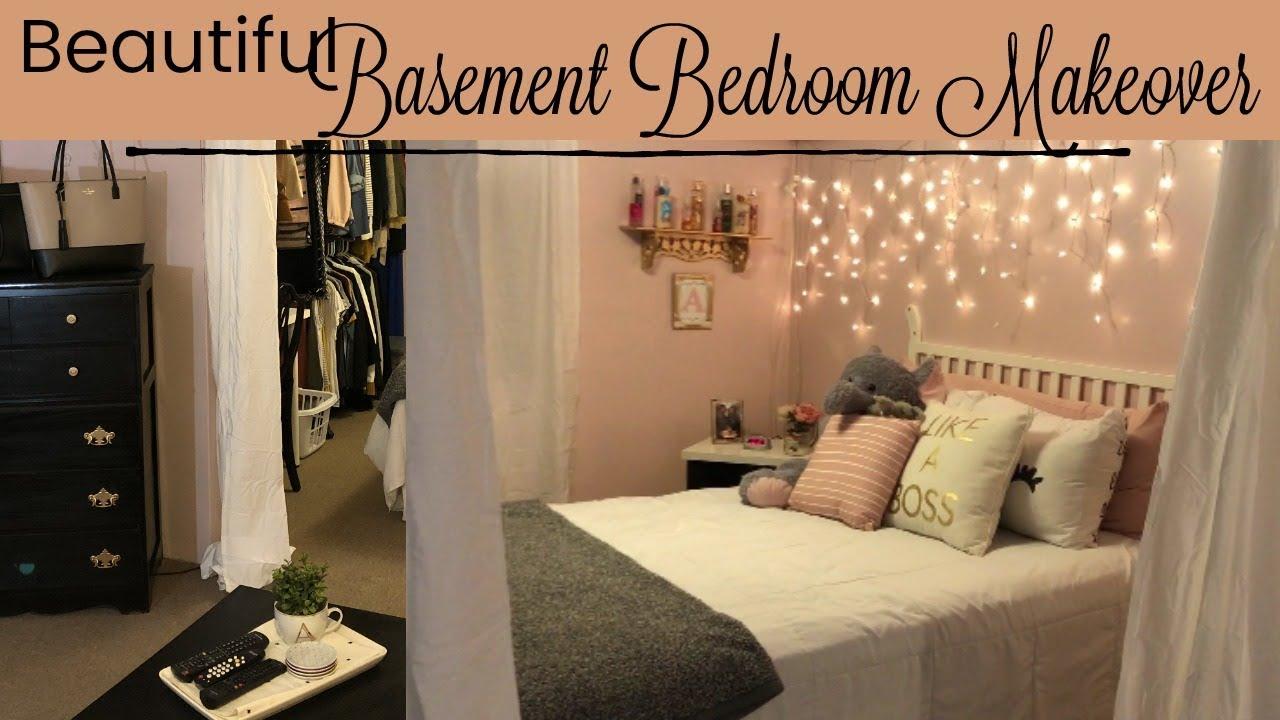 BASEMENT BEDROOM MAKEOVER // $12