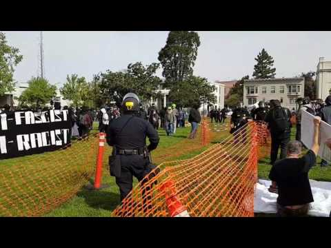 BREAKING: ANTIFA ARRIVES AT BERKELEY FREE SPEECH EVENT