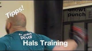 Halsmuskel Training Tipps! Für jeden Schlag vorbereitet zu sein brauchst du starke Hals Muskulatur!