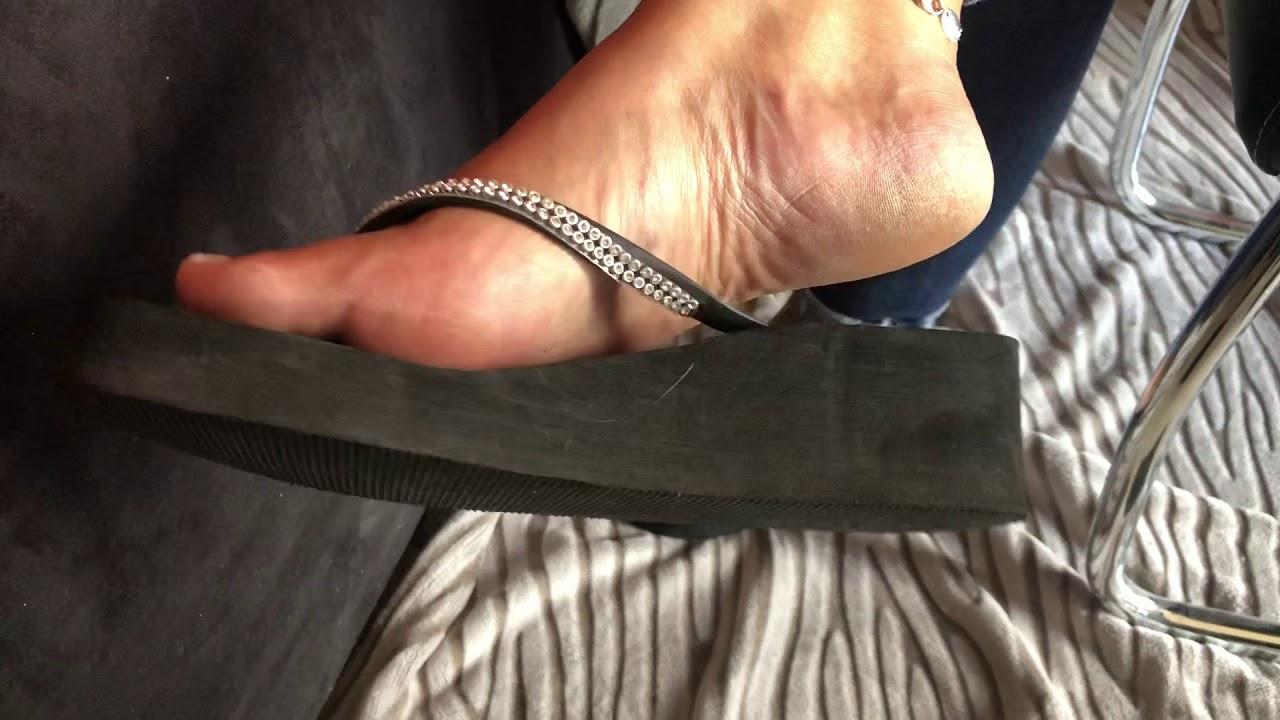 Black Flip flop dangling