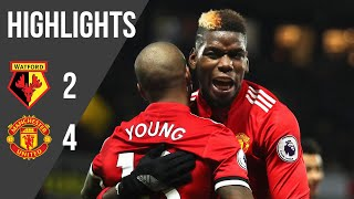 Watford 2-4 Manchester United | Premier League Highlights (17/18) | Manchester United