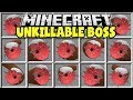 Minecraft UNKILLABLE BOSS MOD | SPAWN GIANT BOSSES AND TRY TO SURVIVE!