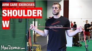 Shoulder W Exercise - Arm Care Shoulder Program