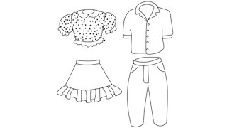 How to draw Clothes - Easy step-by-step drawing lessons for kids