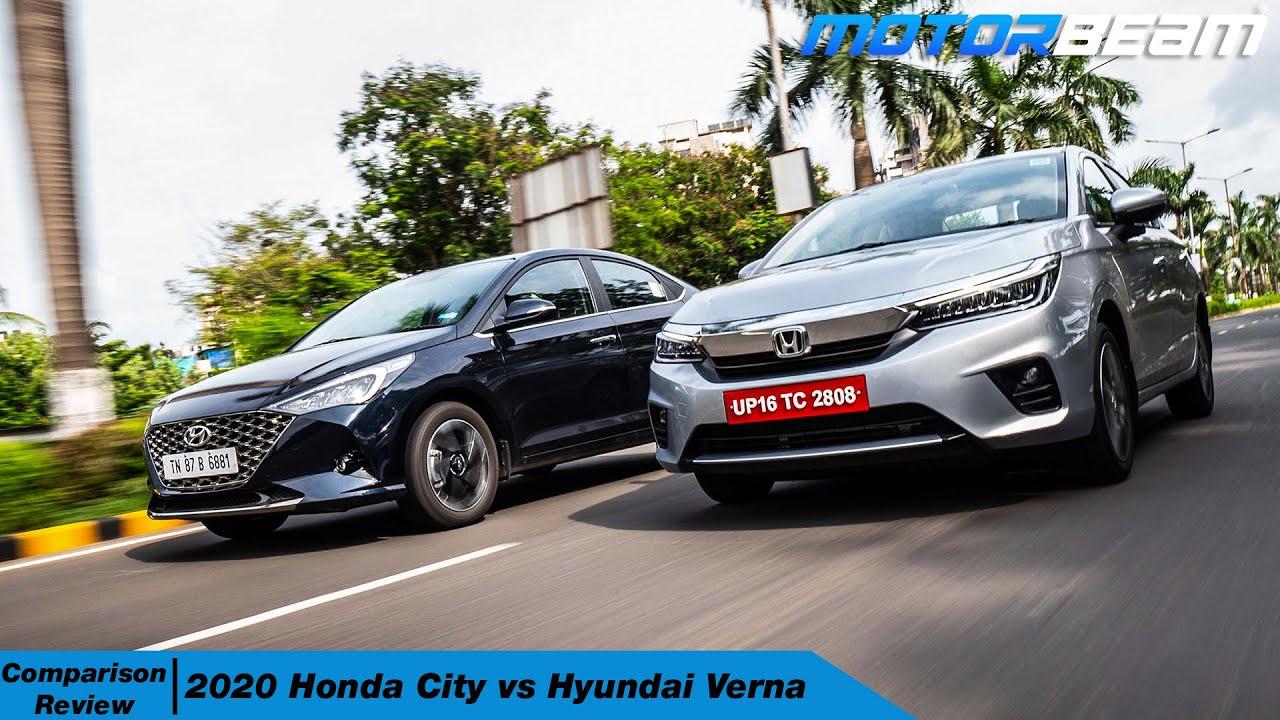 Honda City vs Hyundai Verna Comparison - Kaunsi Kharide? | MotorBeam हिंदी