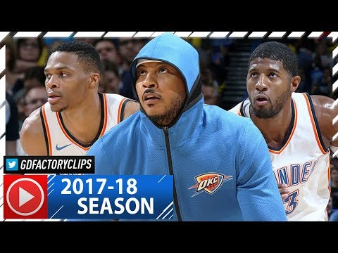 Russell Westbrook, Carmelo Anthony & Paul George Highlights vs Timberwolves (2017.10.22) - EPIC!