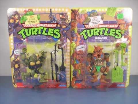 TMNT Tokka & Rahzar Action Figure Review 1991 Playmates Teenage Mutant Ninja Turtles II