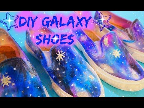 Fun Kids Craft - How to Make DIY Galaxy Shoes