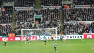 Adam Johnson smb goal.Newcastle 0 - 1 Sunderland