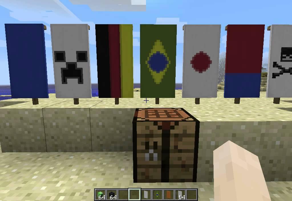 Como fazerBandeiras! Minecraft 18  YouTube -> Como Fazer Banheiro Moderno No Minecraft