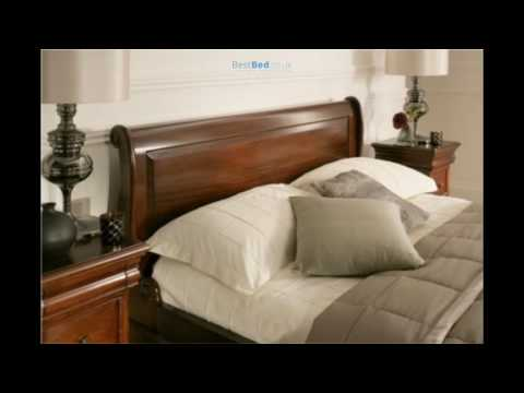 Toulouse Mahogany Wooden Sleigh Bed