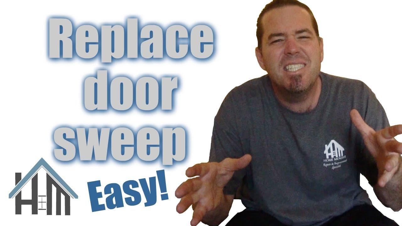 How to replace a door sweep on exterior door. Easy! Home Mender ...