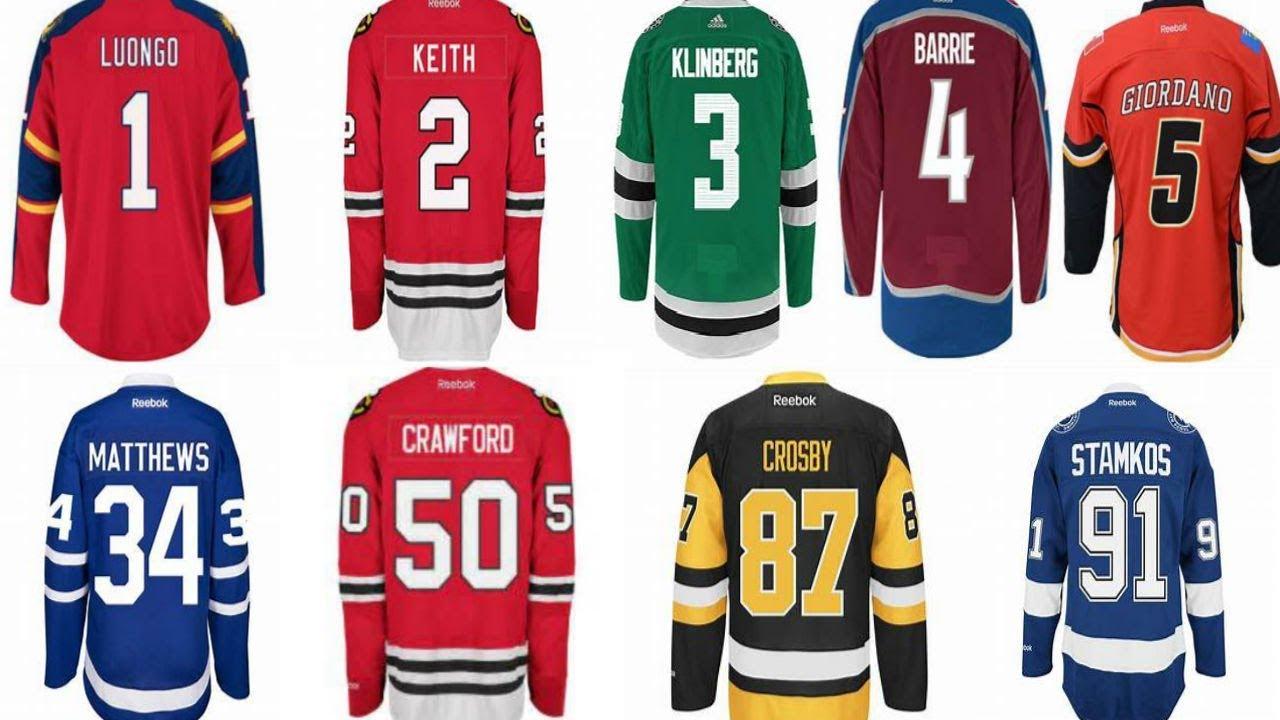 current nhl jerseys