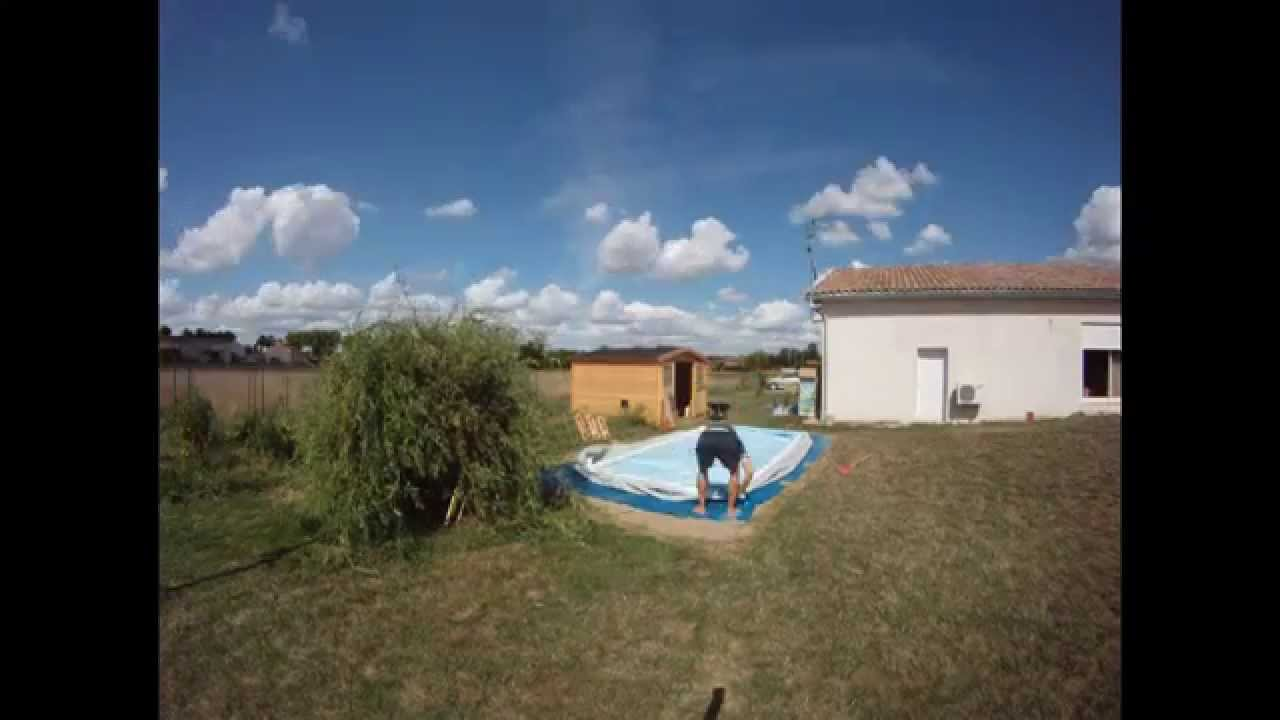 Montage piscine intex en 30 secondes chrono gopro hd youtube for Piscine montage