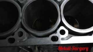 Mercedes M272 блок цилиндров - результат гильзовки и шлифовки (+миниобзор)