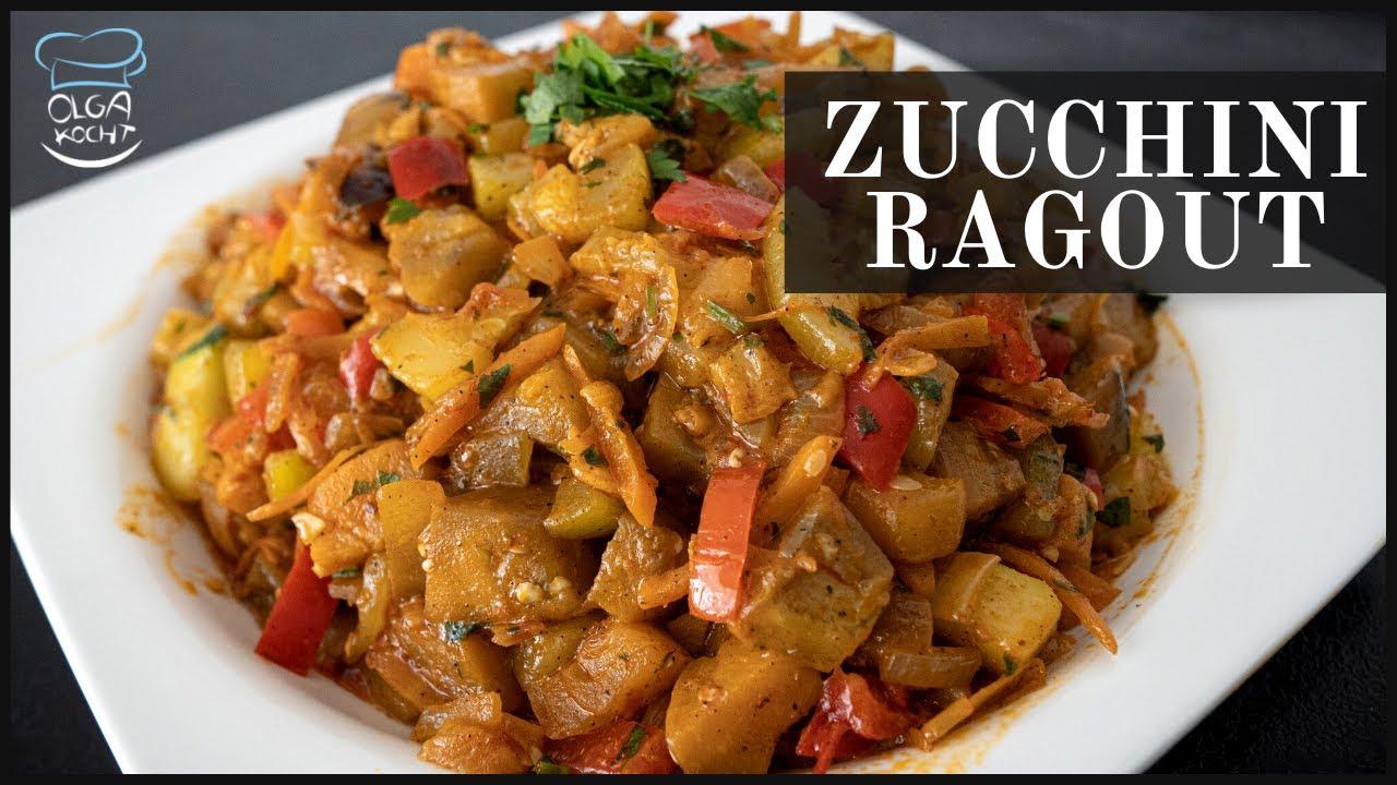 Zucchini Ragout nach Olga Art - Mit Auberginen und Paprika
