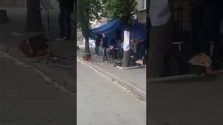 Фестиваль уличных музыкантов город Кривой Рог группа Кино Стук