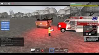 Roblox-EMS-Flipped über Polizistenauto